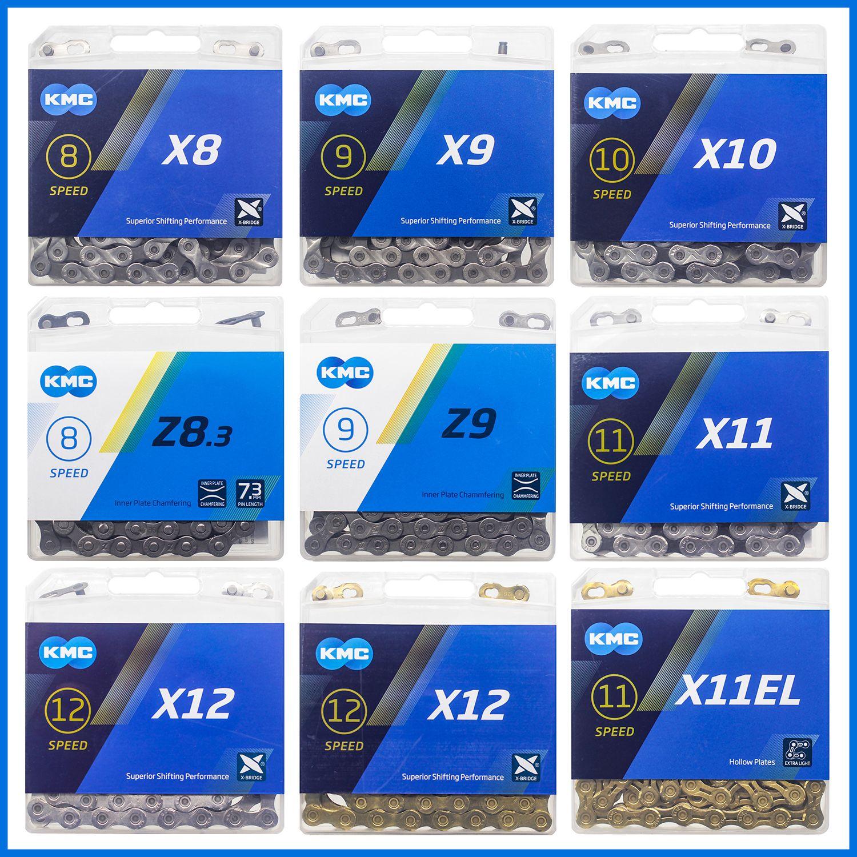 KMC chaîne de vélo X8 X9 X10 X11 X12 chaîne de vélo 8/9/10/11/12 vitesses route vtt pédalier Shimano/SRAM 8 9 10 11 12s dérailleur 116L
