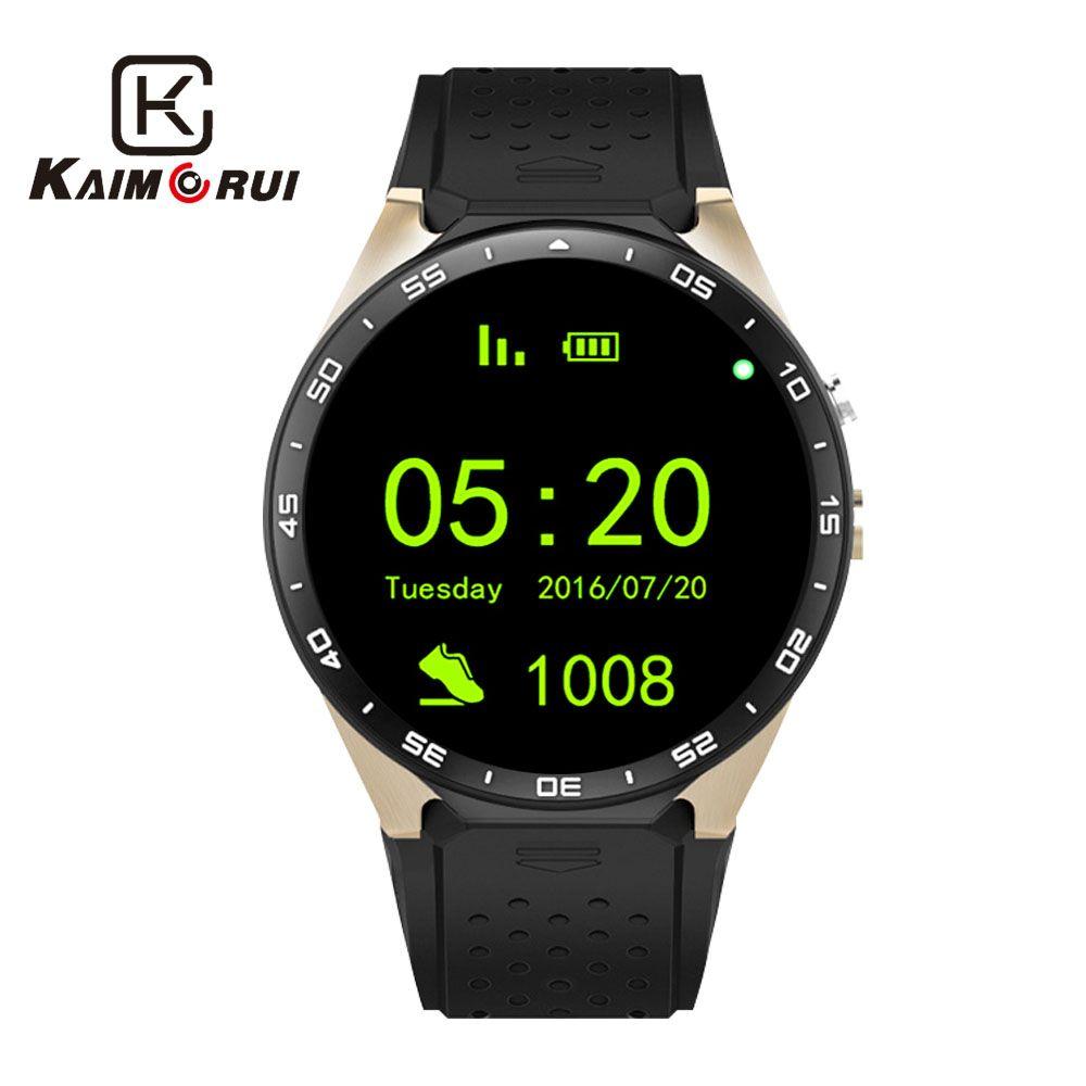 Kaimorui KW88 Bluetooth montre intelligente Android 5.1 OS 1.39 'Amoled écran 3G wifi sans fil Smartwatch téléphone + Bluetooth écouteur