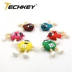 Pen drive 16gb 8gb pendrive 32gb 64gb 128gb u disk cute M&M rainbow beans flash memory lovely usb flash drive флешка Hot sale