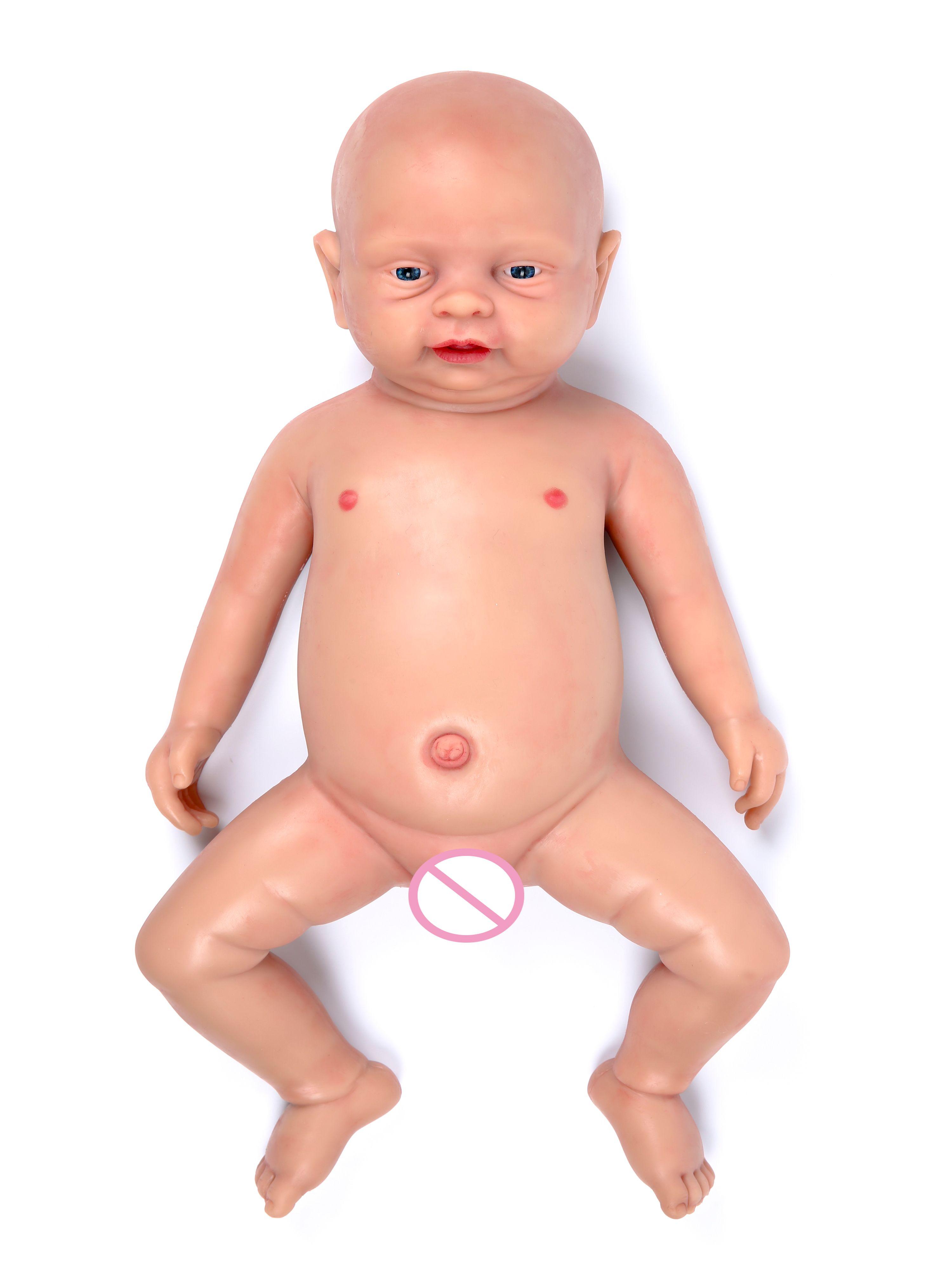 IVITA WB1502 18 Zoll 3800g Haut farbe Realistische Silicon Reborn Boy Puppe Lebensechte VOLLEN KÖRPER SILIKON brinquedo augen geöffnet spielzeug