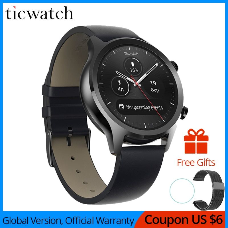 Ticwatch C2 Smartwatch Android OS Wear Eingebaute GPS Herz Rate Monitor Fitness Tracker Google Zahlen 400mAh 1-1,5 tage 1,3 ''AMOLED