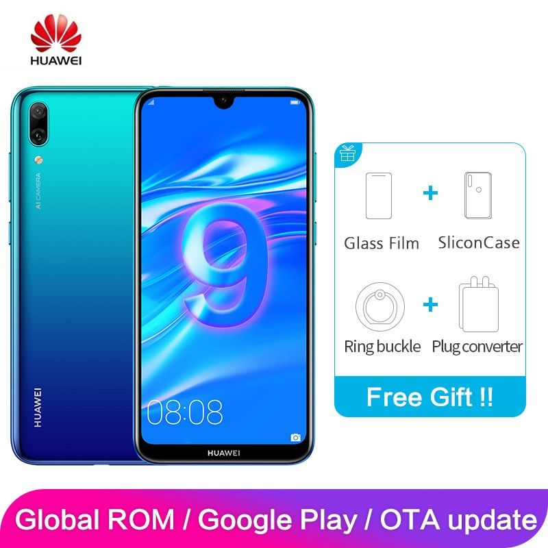 Huawei Enjoy 9 Y7 Pro Global ROM 4GB 128GB 6.26 inch Snapdragon 13MP 450 Octa Core Android 8.1 Smartphone 4000mAh Dual Card