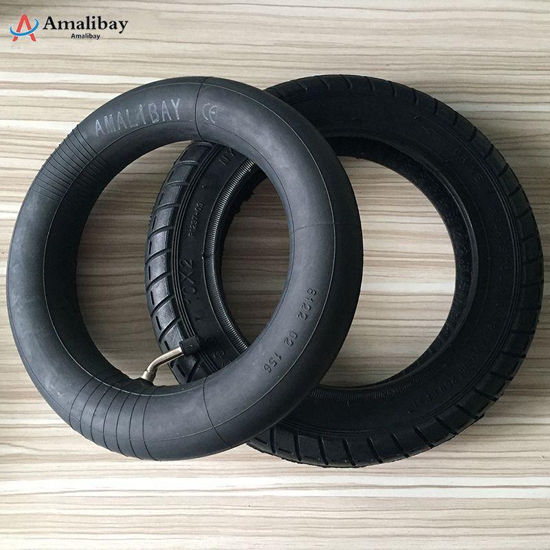 Pneus 10 pouces améliorés pour Xiaomi M365 Pro roues de gonflage plus épaisses pneu chambre à air extérieure pneu pneumatique Xiaomi Scooter pneus