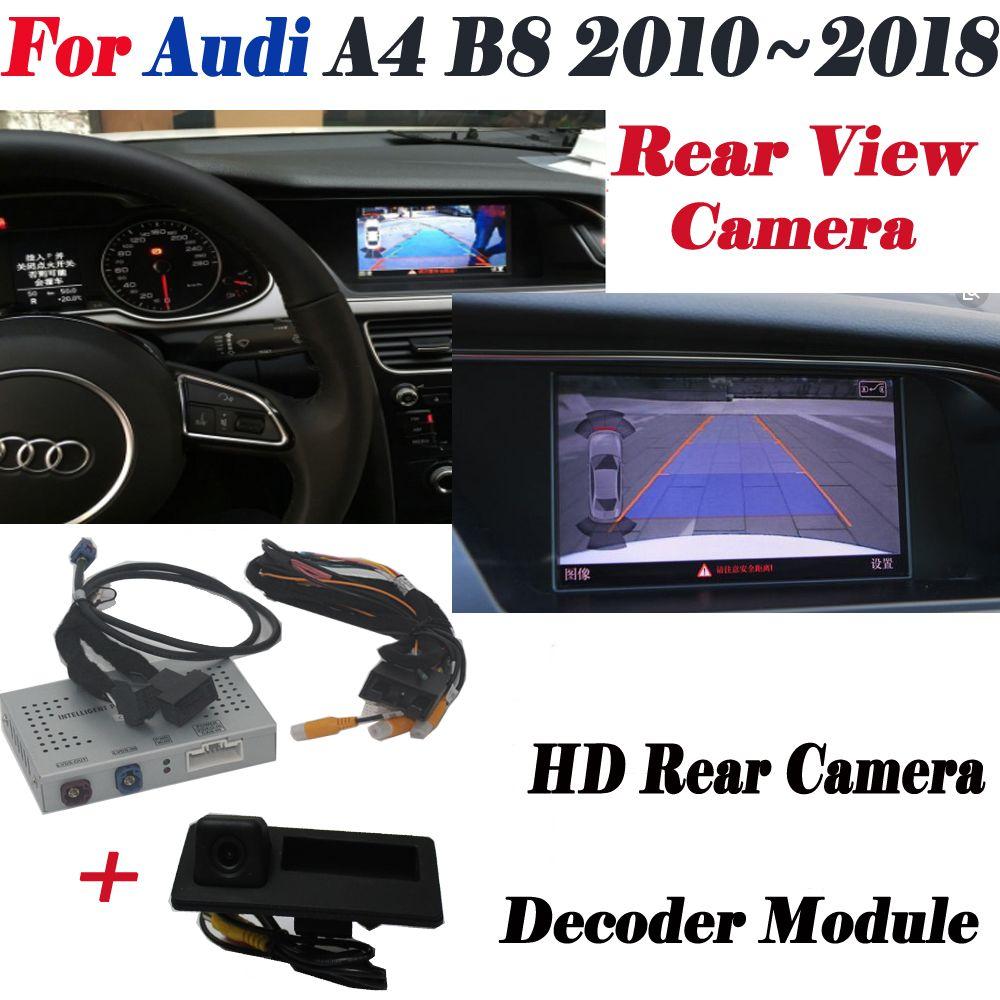 Reverse Kamera Für Audi A4 B8 2010 ~ 2018 Interface Adpter Parkplatz Hinten Backup Kamera Anschließen Original Bildschirm MMI Decoder
