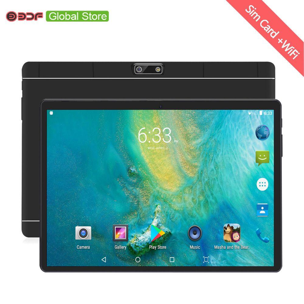 Nouveau 10 pouces 4G téléphone appel tablettes Android 7.0 Octa Core 4G + 64G tablette Pc 3G 4G LTE double carte SIM ordinateur portable WiFi GPS Bluetooth tab