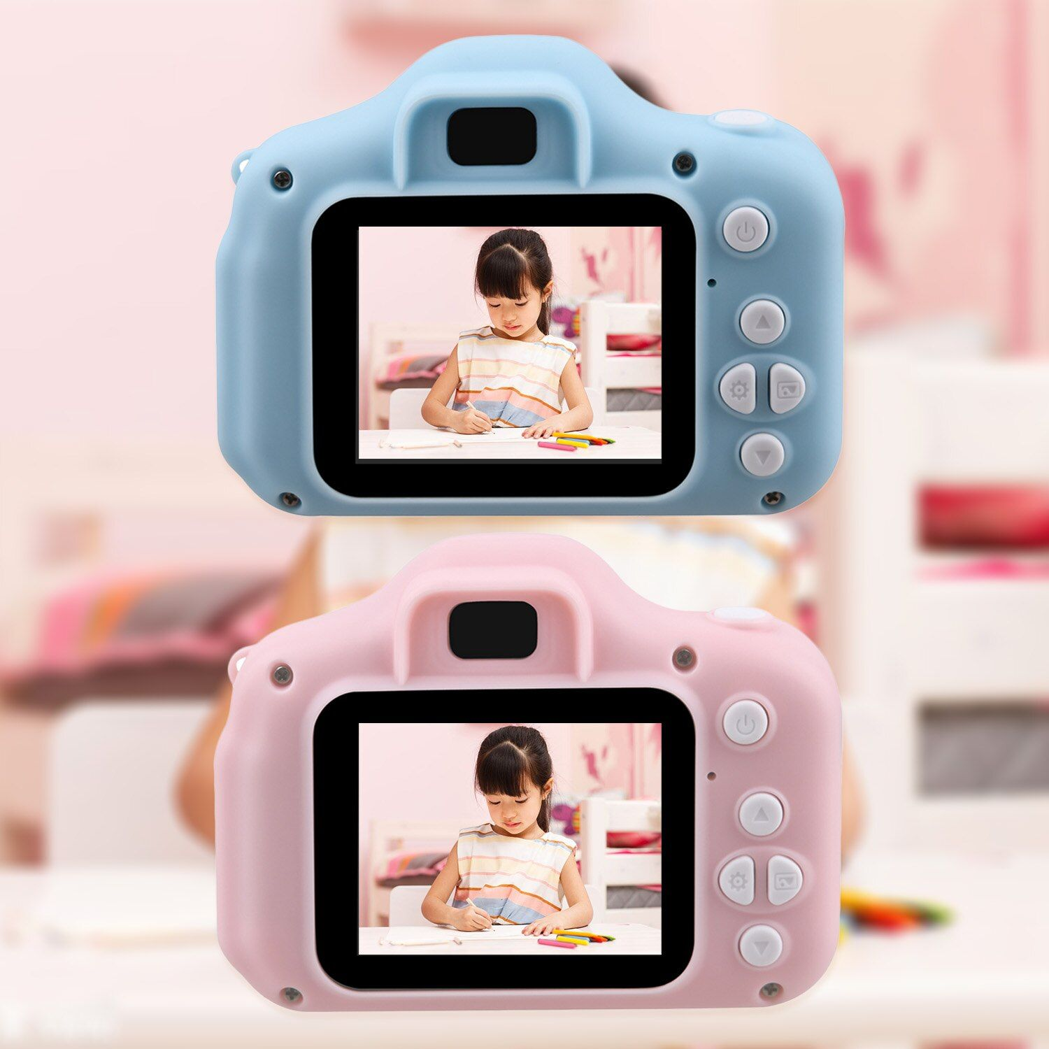 Kids Mini Camera Toy Cute Camcorder Rechargeable Digital Camera with 2 Inch Display Screen Children Educational Toy Outdoor Play