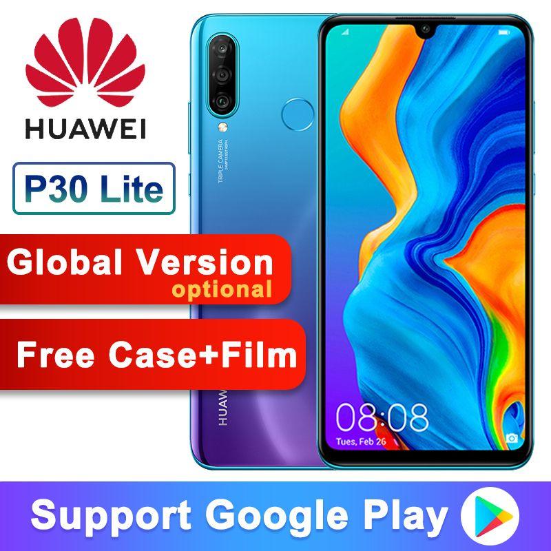 Globale Version Optional Original Huawei P30 Lite Nova 4e Smart telefon 6,15 zoll Kirin 710 Octa Core Android 9.0 32MP 4 * kameras