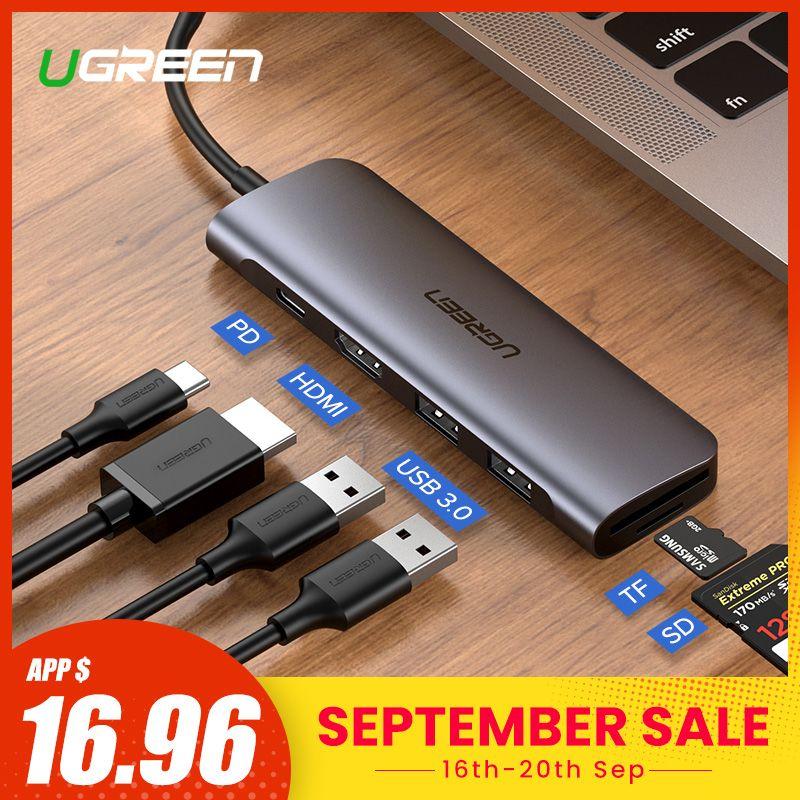 Ugreen USB C moyeu Type C à Multi USB 3.0 HUB adaptateur HDMI Dock pour MacBook Pro Huawei P30/P20 USB-C 3.1 répartiteur 3 ports USB HUB