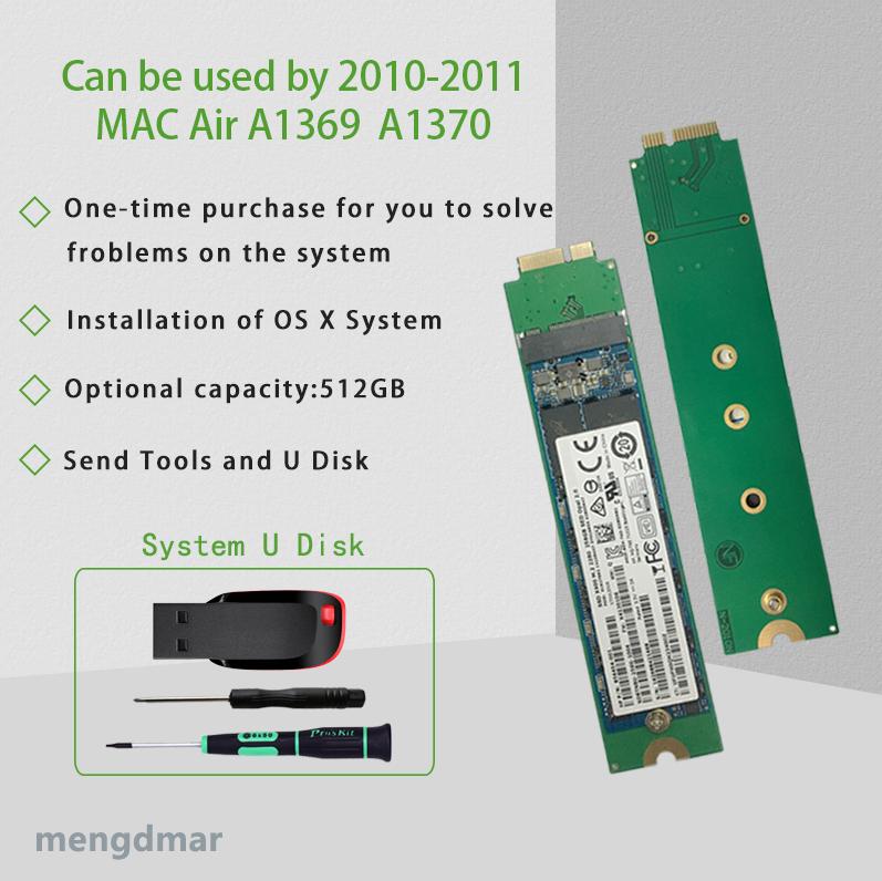 NOUVEAU 512 GO SSD Pour 2010 2011 Macbook Air A1369 A1370 DISQUE SSD MC503 MC504 MC505 MC 506 MC965 MC966 MC968 MC969 disque dur