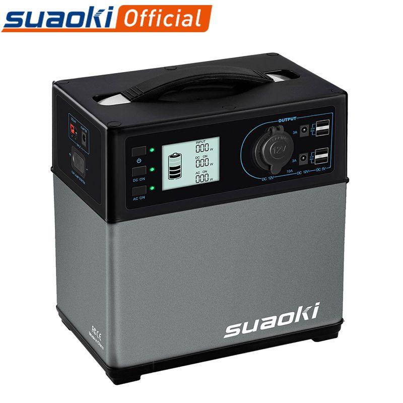 Suaoki 400Wh Notfall Power Bank AC & DC Zigarette USB Starthilfe Netzteil für Elektronische Geräte Tragbare Batterie Station