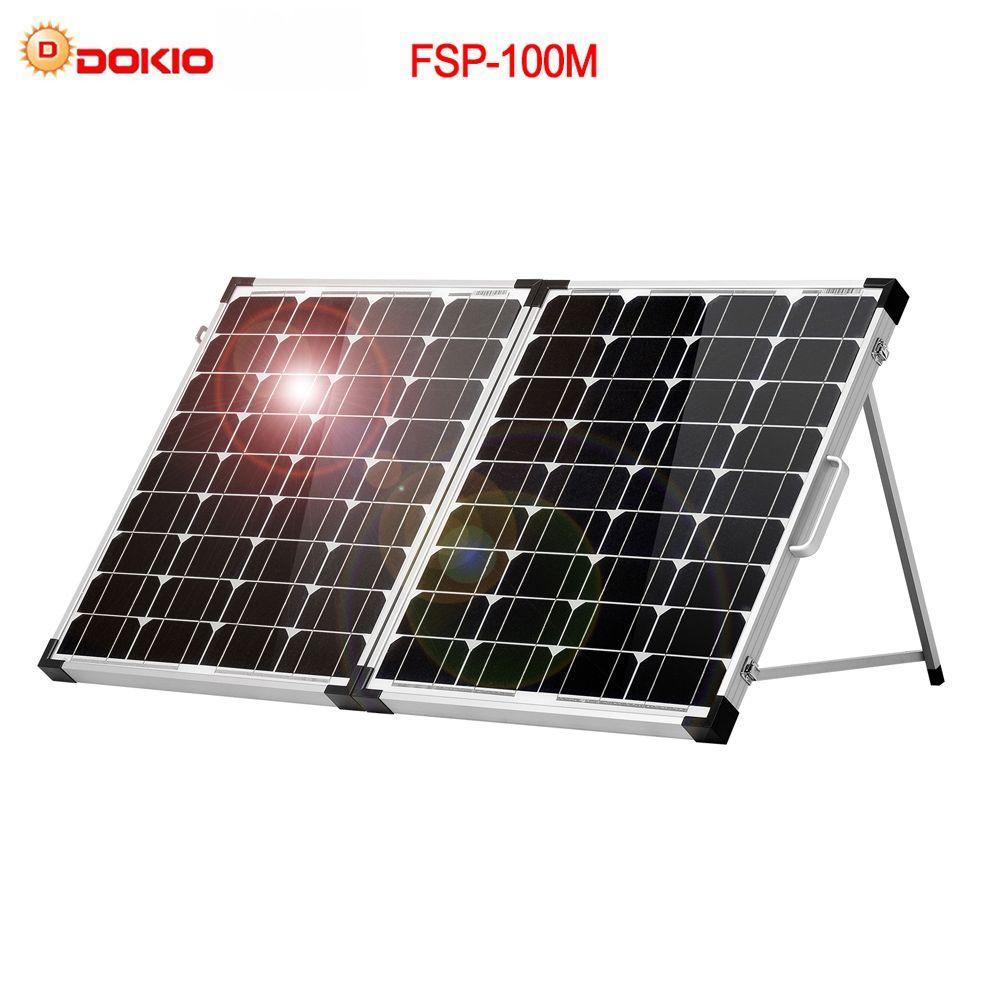 Dokio marque 100W (2 pièces x 50 W) panneau solaire pliable chine 18V + 10A 12 V/24 V contrôleur cellule de batterie solaire/Module/chargeur de système