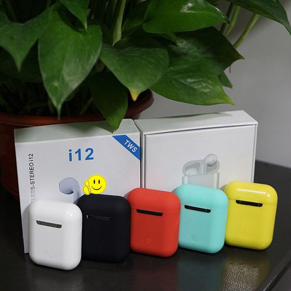 I12 tws Matte Bluetooth écouteurs sans fil écouteurs mains libres affaires écouteurs Sport casque Bluetooth musique écouteurs