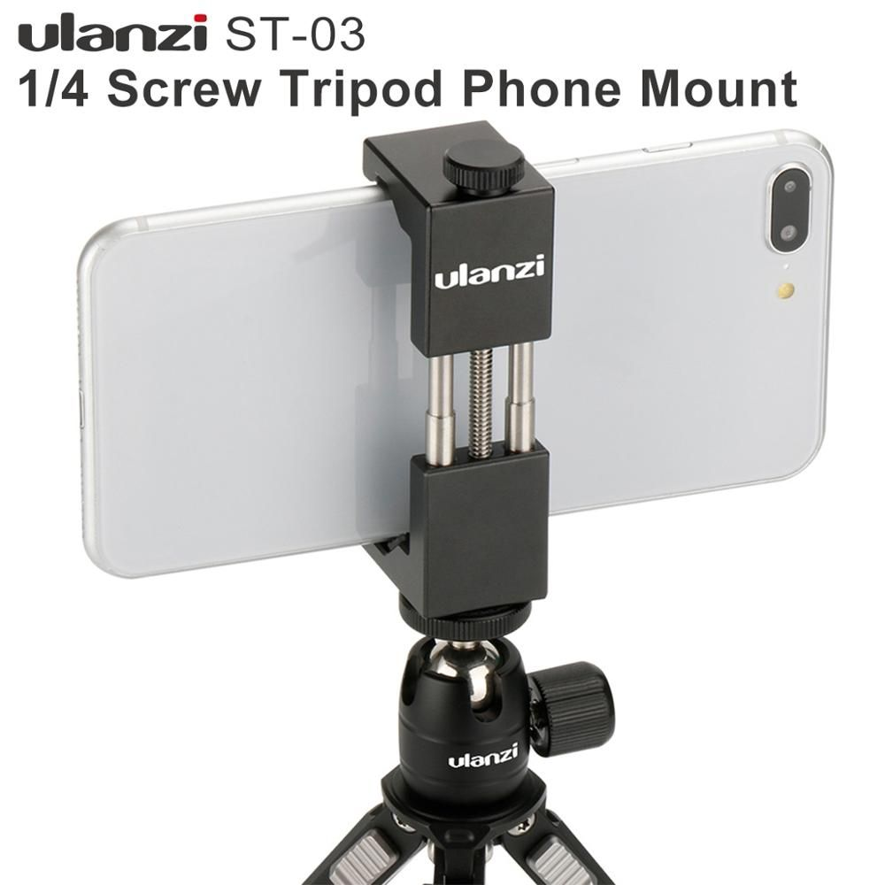 Ulanzi IRON MAN En Aluminium Universel Mont Téléphone Stand de Support Clip trépied Mount Adapter pour iPhone 7/7 Plus Android Smartphone