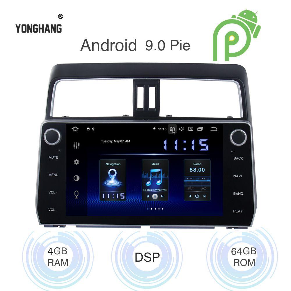 Android 9.0 Auto Radio 2 Din GPS Navi für Toyota prado 2018 2019 canbus PX6 DSP IPS HDMI ausgang 4Gb + 64Gb RDS WIFI RDS USB carplay