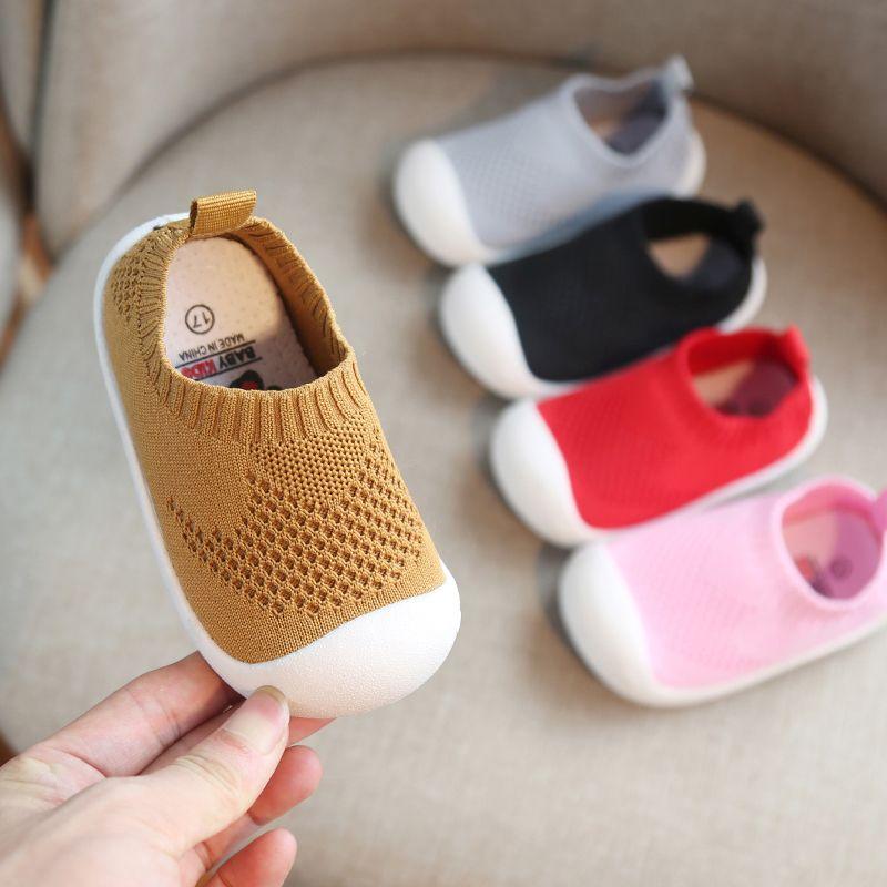 2019 printemps infantile enfant en bas âge chaussures filles garçons chaussures en maille décontractées fond souple confortable antidérapant enfant bébé premiers marcheurs chaussures