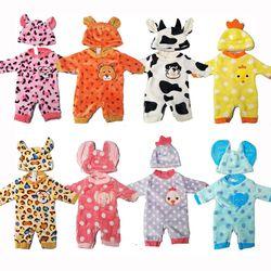 Pakaian Boneka untuk 43 Cm Boneka Bayi Pakaian Kartun Set untuk 18 Inch Gadis Boneka Hewan Lucu Pakaian