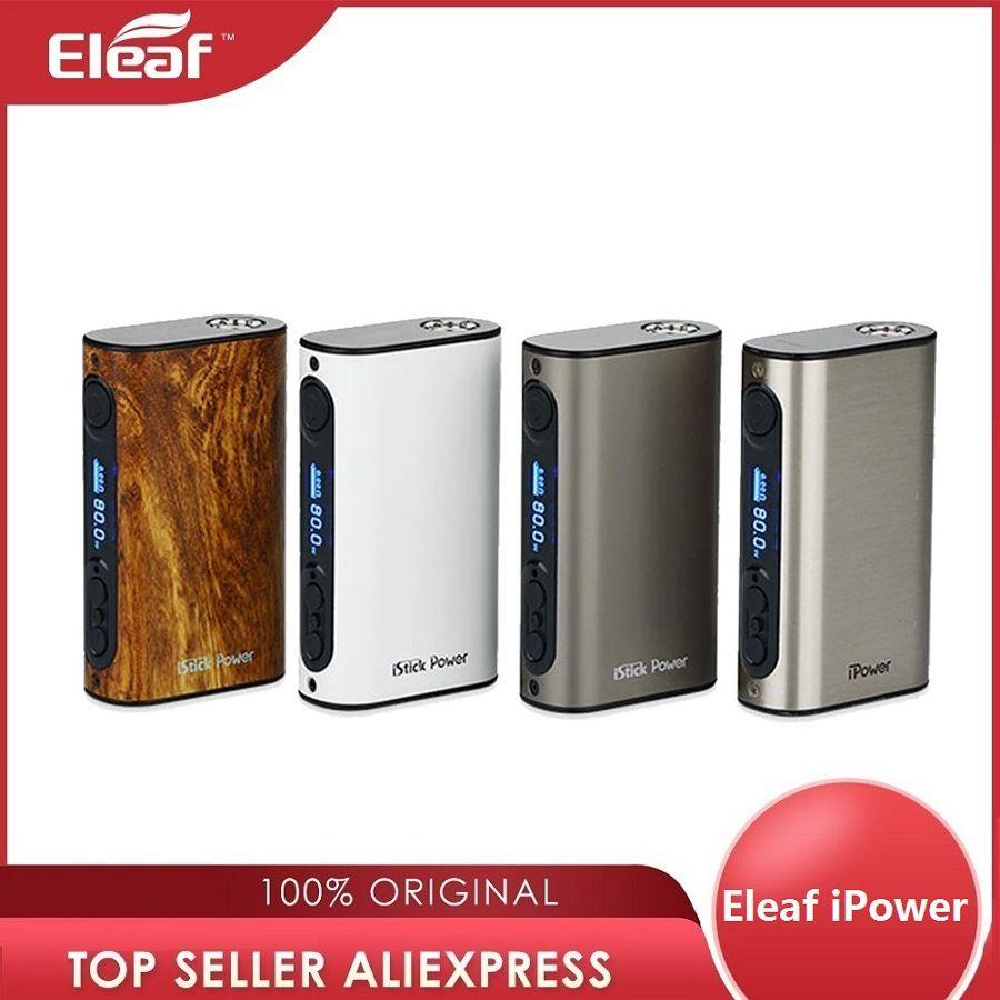 Eleaf iPower 80W TC MOD 5000mAh batterie intégrée cigarette électronique eleaf istick ipower Box Mod pour Melo 3 réservoir vs IKuun I200