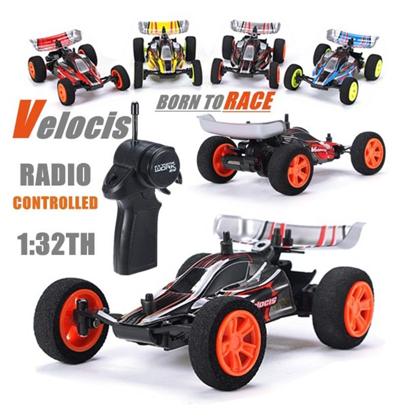Velocis 1/32 2,4G RC Racing Auto Mutiplayer in Parallel 4 Kanal Bedienen USB Lade Edition RC Formel Auto