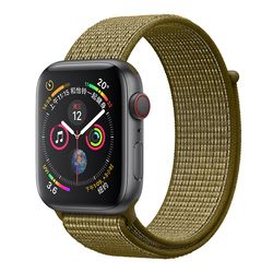 Nylon Sport Loop Replacment Band for Apple Watch Series 5 1 2 3 Lightweight Soft Breathable Woven Strap iwatch 44mm 40mm 38 42mm