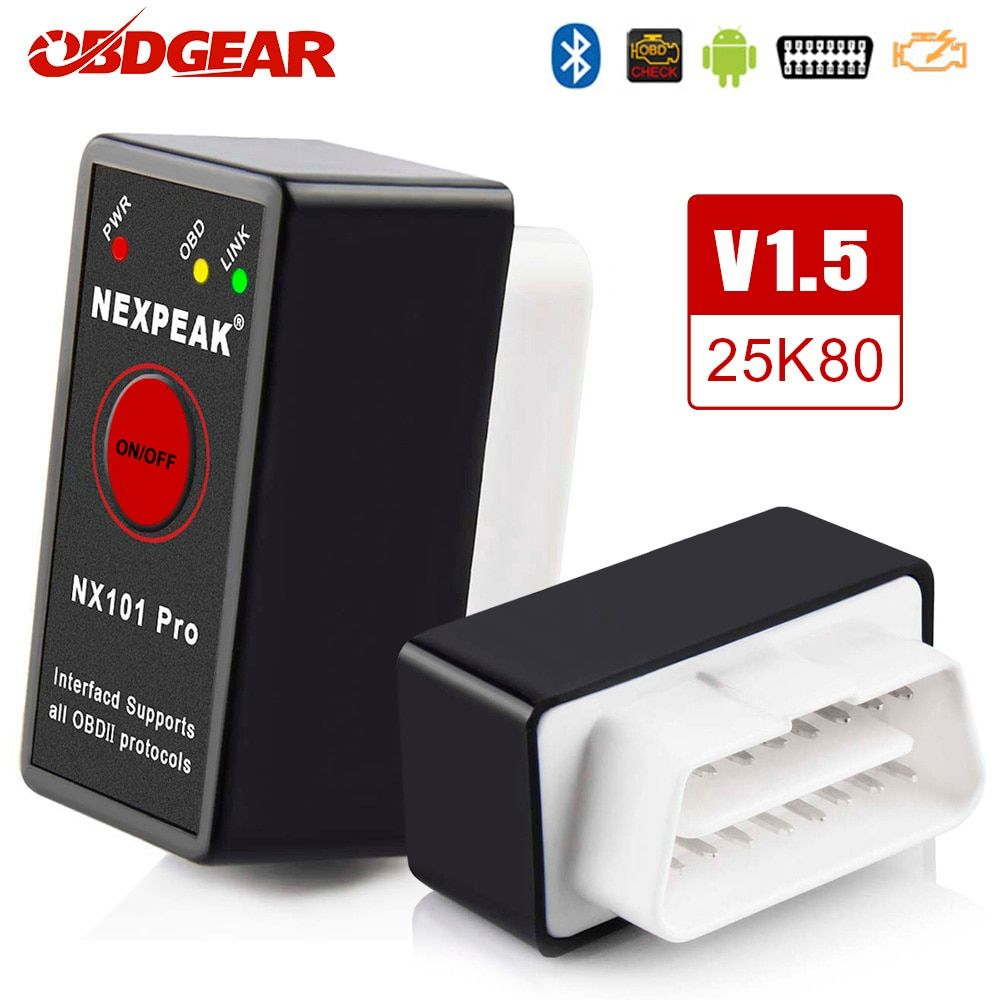 OBD2 ELM327 Bluetooth pic18f25k80 OBD2 Scanner de voiture ELM 327 Mini V1.5 OBD2 Scanner OBD Elm327 V 1.5 outil de Diagnostic automatique