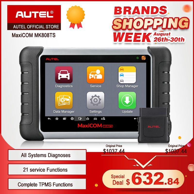 Autel MaxiCOM MK808TS Professionelle OBD2 Bluetooth Auto Diagnosescan-werkzeug OBD 2 Scanner Programmierung TPMS Sensor PK MK808 MK808BT
