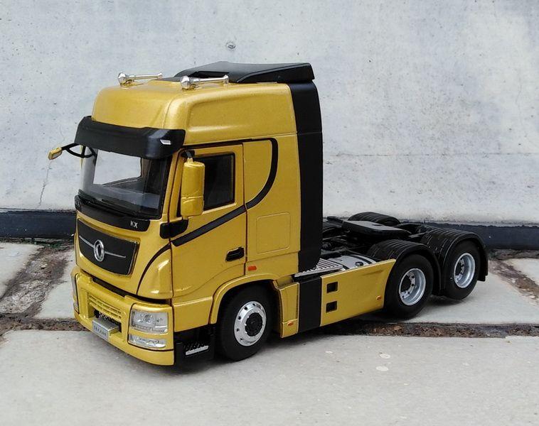 Legierung Modell Dekoration 1:43 Skala Dongfeng Tianlong H7 Lkw Traktor Trailer Diecast Spielzeug Modell Für Sammlung, Geschenk