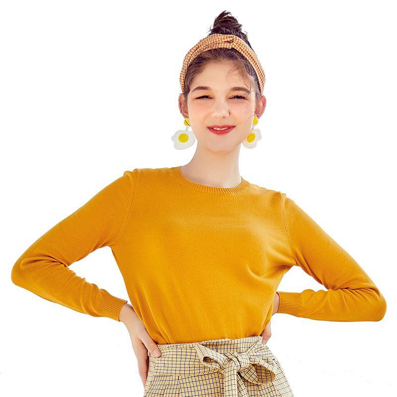 SEMIR 2019 cachemire tricoté pull femmes pulls col roulé automne hiver basique femmes chandails Style coréen Slim Fit noir