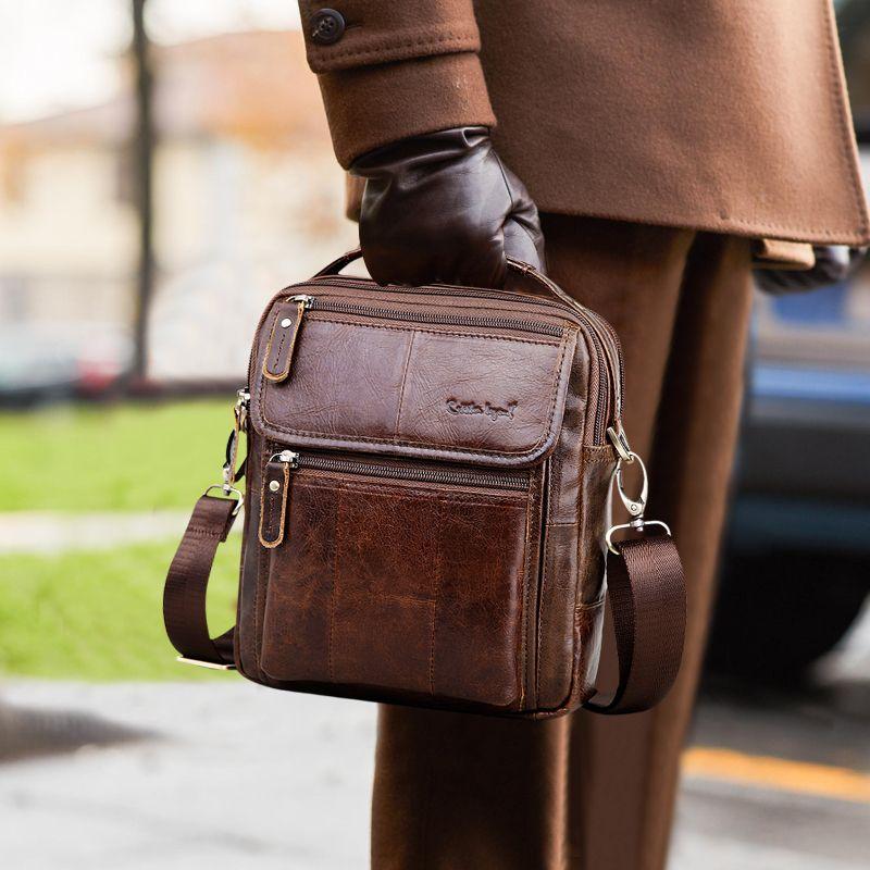 Cobbler Legend marque hommes en cuir véritable sac d'affaires 2019 hommes sacs à bandoulière de haute qualité hommes sacs à main pour hommes cartables supplier