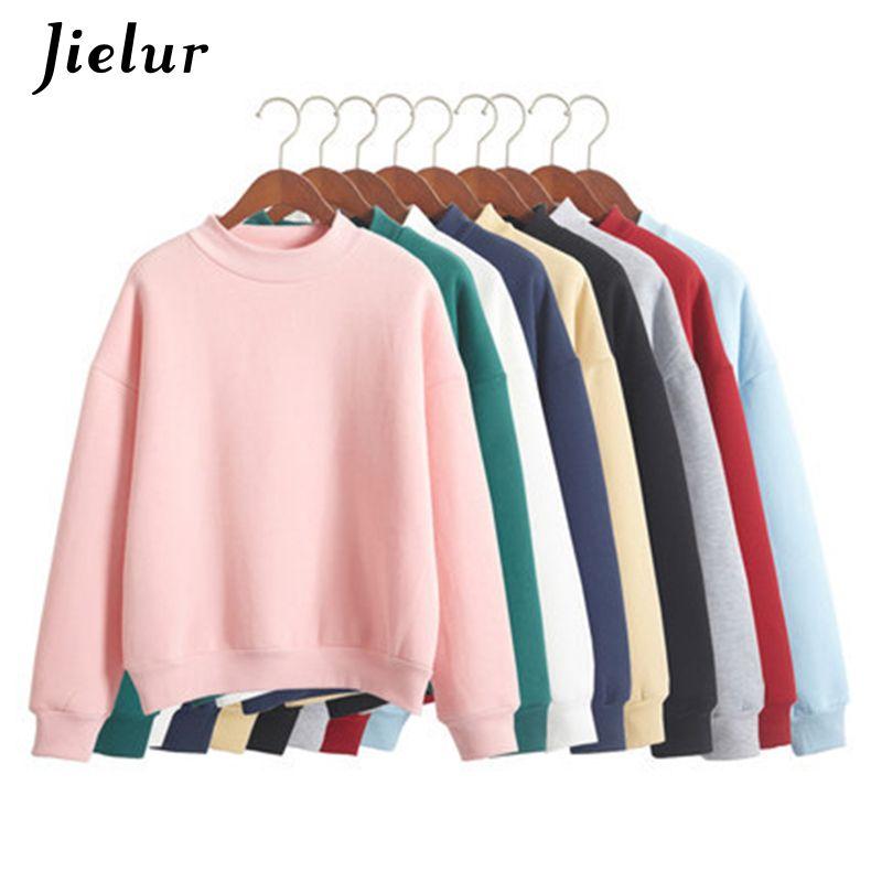 Gros M-XXL mignon sweat à capuche pour femme pull 9 couleurs 2019 automne manteau hiver lâche polaire épais tricot sweat femme