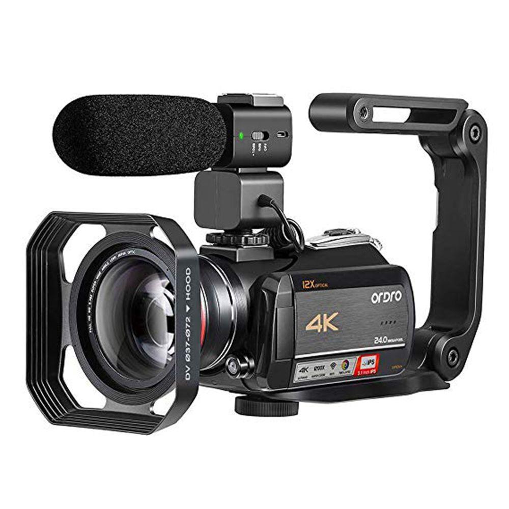 ORDRO AC5 Camcorder 4k Digital Video Kamera WiFi 12X Optische Zoom Professionelle Aufnahme Camara mit Weitwinkel Objektiv Mikrofon