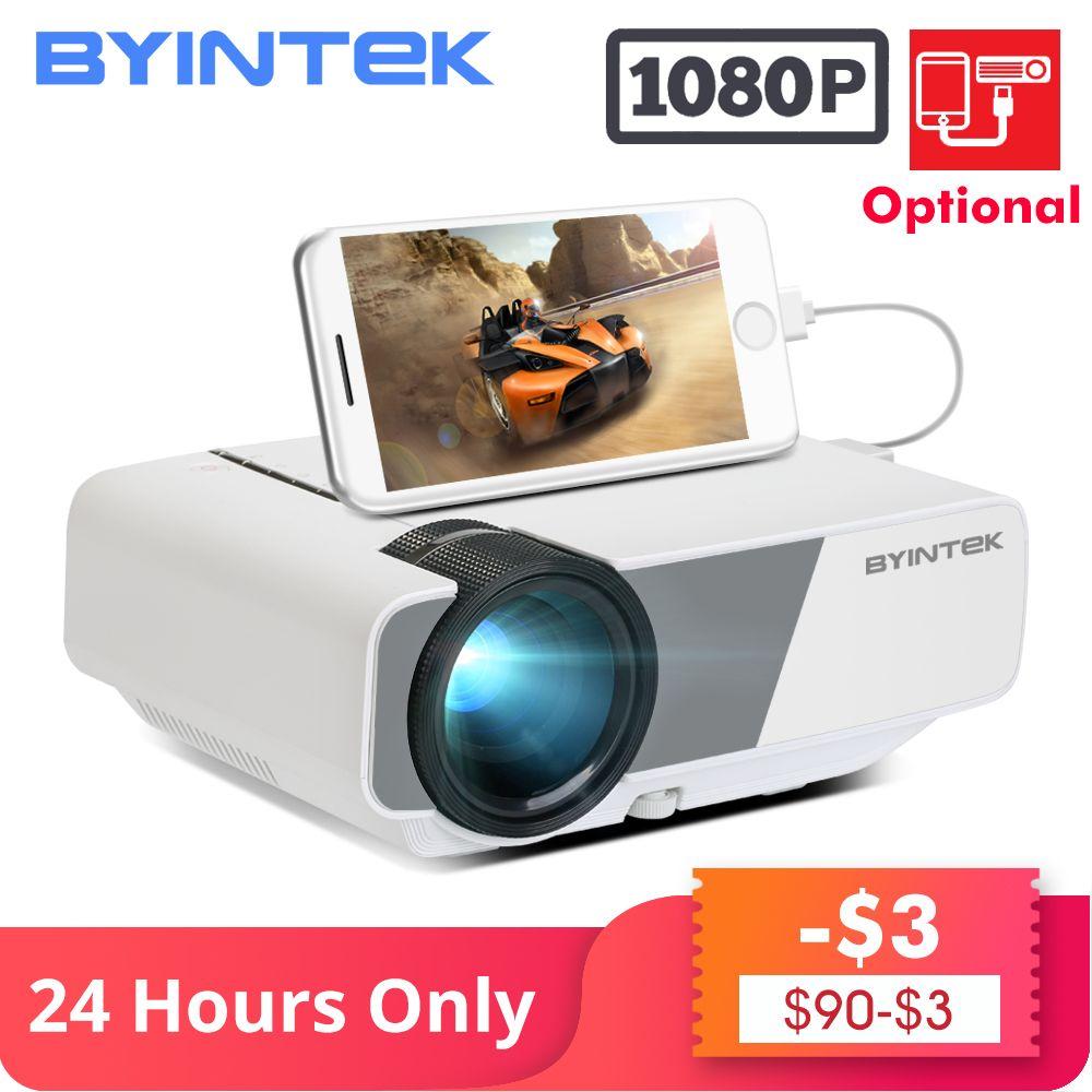 BYINTEK SKY K1/K1plus LED Home cinéma Portable HD Mini projecteur (affichage de synchronisation filaire en option pour tablette de téléphone Iphone Ipad)