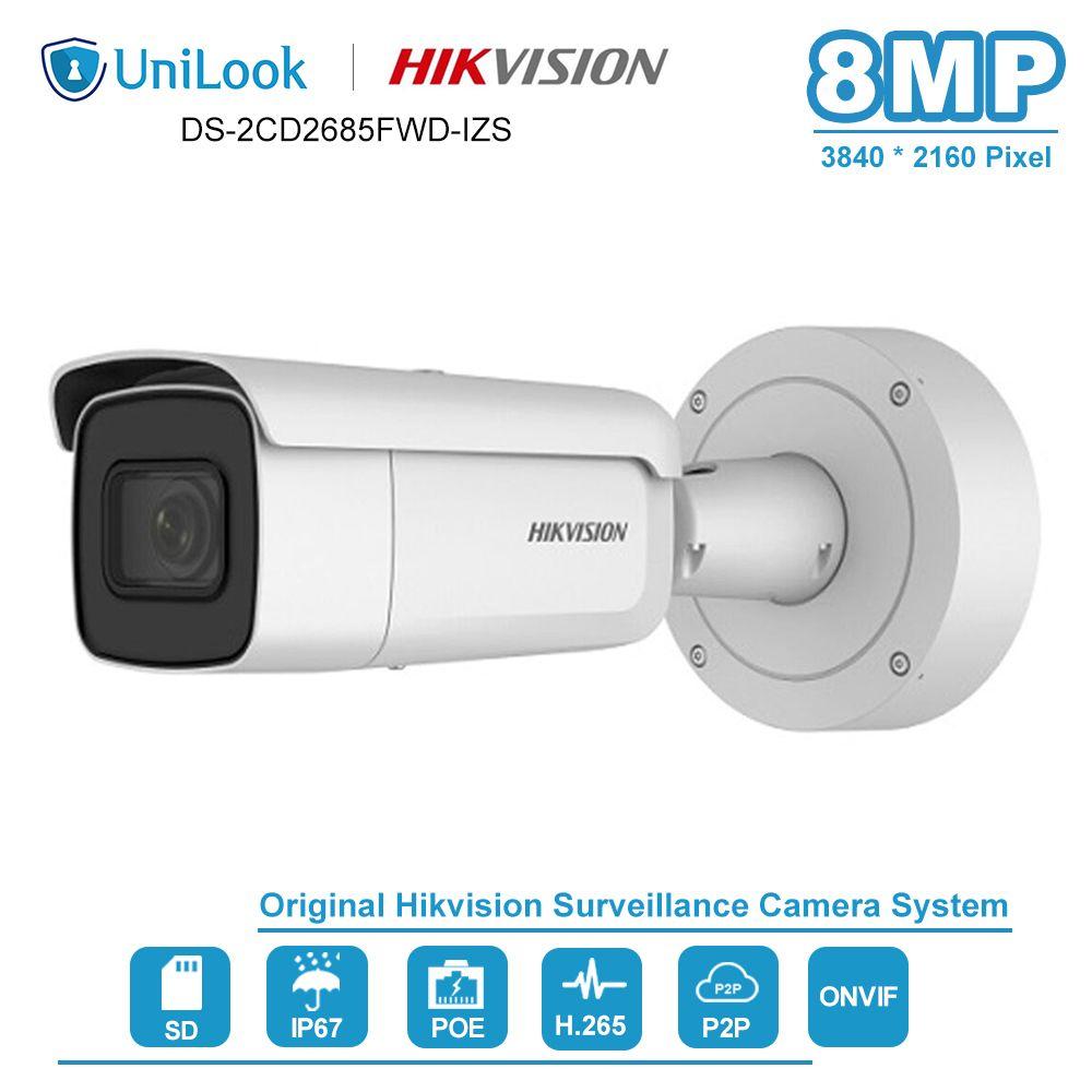 Hikvision 8MP Kugel IP Kamera PoE Onvif Home/Outdoor Wetterfeste CCTV Sicherheit Überwachung Nachtsicht DS-2CD2685FWD-IZS