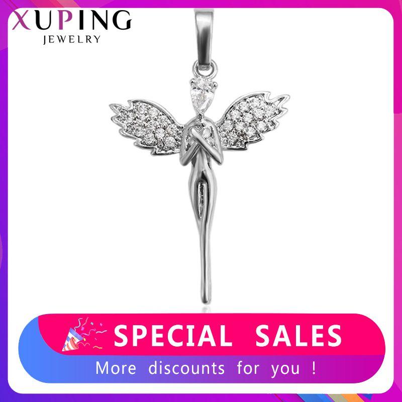 Xuping mode charme Style collier pendentif de forme humaine pour les femmes filles bijoux noir vendredi cadeaux S81, 6-33357