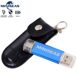 Usb Flash Drive Metal 9 Colors OTG Phone Pen Drive 8GB 4GB Pendrive 64GB 32GB 16GB Memory Usb Stick  Miniseas
