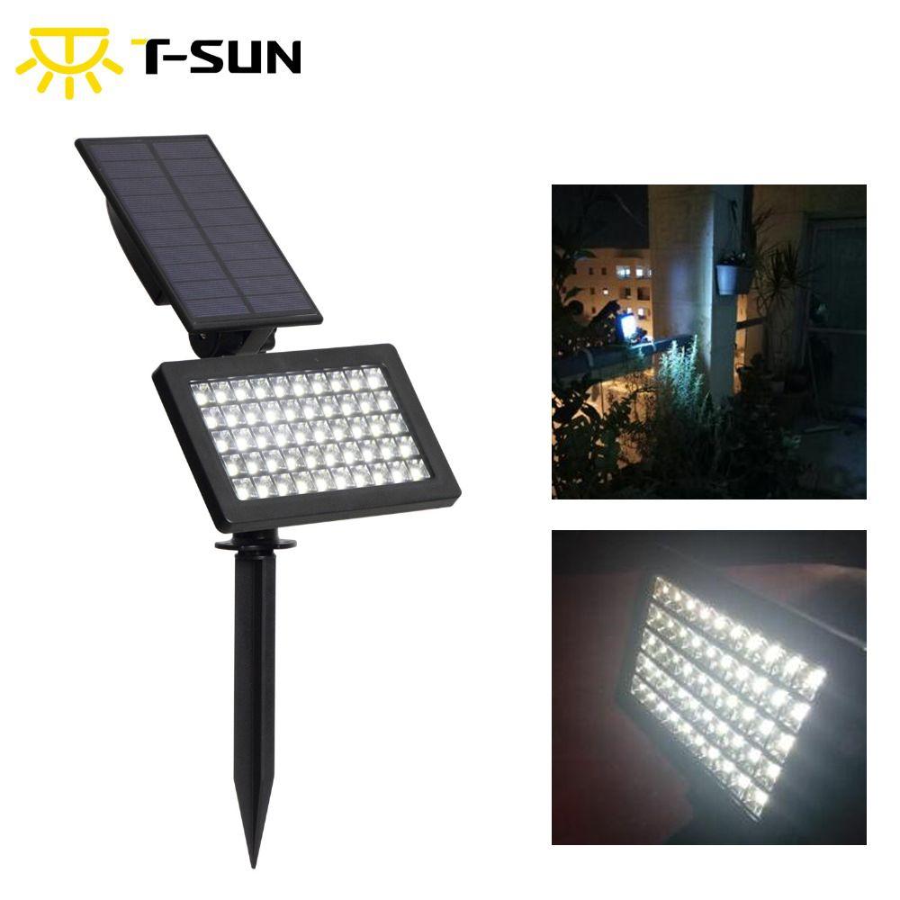 T-SUNRISE 50 LED s extérieur LED solaire alimenté jardin lumières IP44 étanche pelouse lampe paysage spots