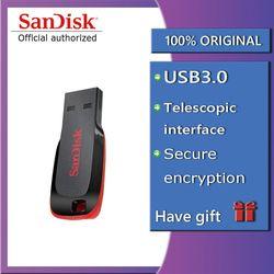 Sandisk PenDrive USB Flash Drive Encryption Mini Car USB Pen DrivesStick 8GB 16GB 32GB 64GB 128GB Memory Stick  PenDrive
