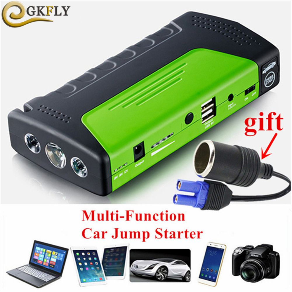 2019 Emergency Car Jump Starter 600A Multifunction Portable Power Bank 12V Car Battery Booster Voiture Auto Starting Device