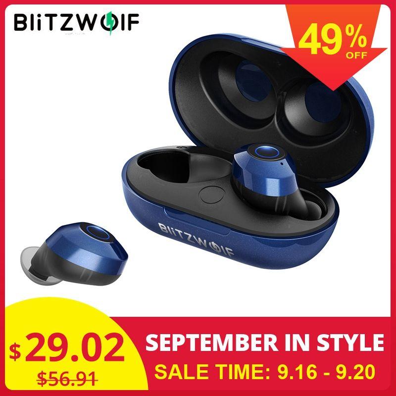 Hot Blitzwolf FYE5 Bluetooth 5.0 TWS True Wireless écouteurs écouteurs sport écouteurs HiFi basse stéréo casques IPX6 étanche