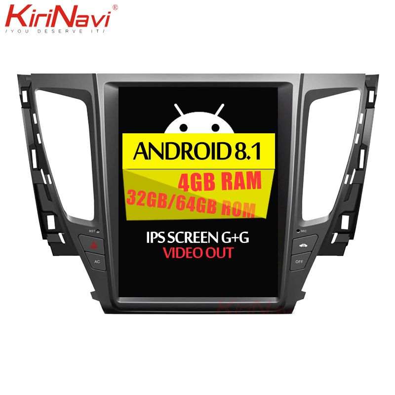 KiriNavi Vertikale Bildschirm Tesla Stil Android 8.1 Auto Radio Für Mitsubishi Pajero Sport Auto Dvd-Multimedia-Player GPS Navigation
