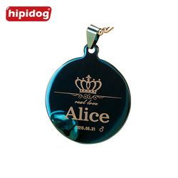 Hipidog Free Engraving Dog Tags Pet Collar Accessories Decoration Pet ID Collars Stainless Steel Dog Cat Tag Customized Tag