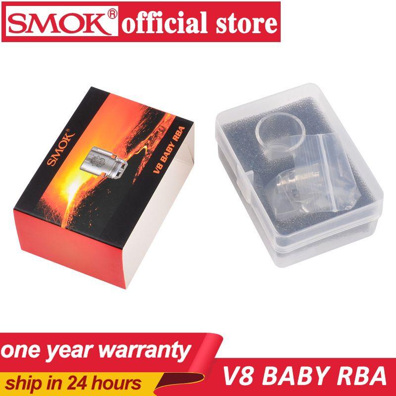 100% Original Smok V8 bébé RBA bobine et V8 RBA exclusif tube de verre et anneaux d'étanchéité adaptés pour TFV8 bébé réservoir