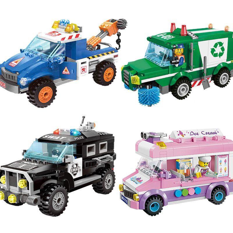 Série de ville civilisée modèle blocs de construction enfants jouets éducatifs amusants Legoings compatibles pour les enfants cadeau de noël