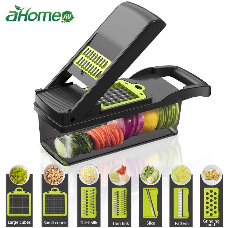 Mandoline légumes Fruits outil râpe Cutter déchiqueteuse ail viande hachoir carotte pomme de terre trancheuse salade Maker cuisine Gadgets