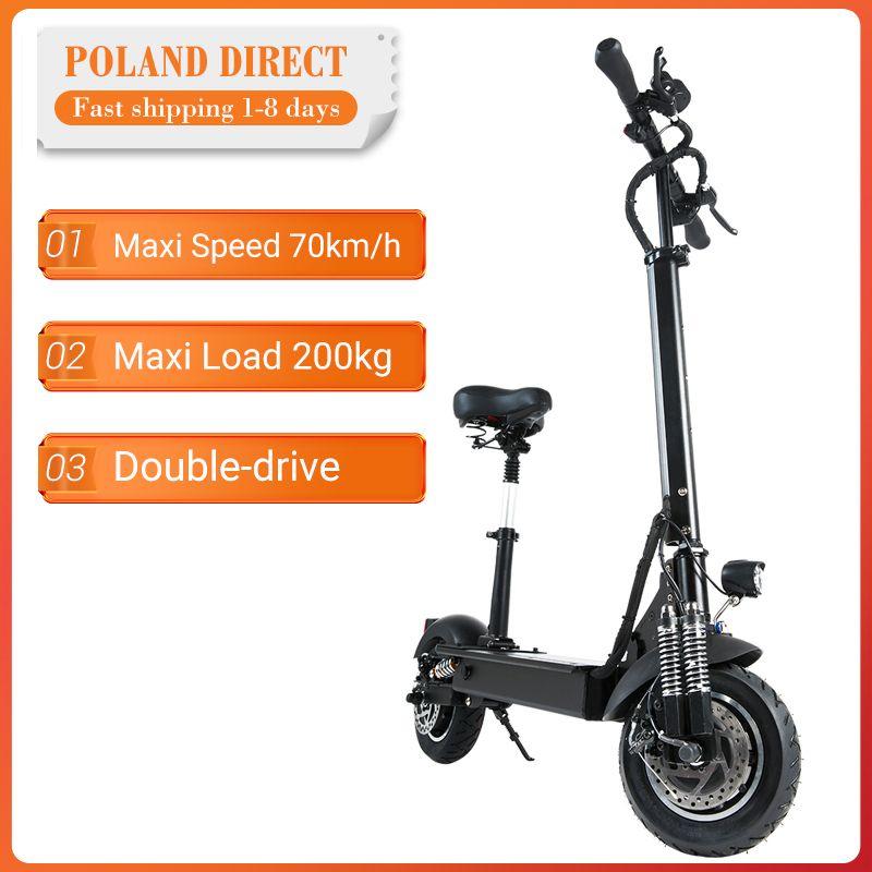 [EU Direkt] Janobike 2000W Dual Motor 23.4Ah 10 Zoll Klapp Elektrische Roller mit Sitz 70 km/h Max. geschwindigkeit 80km Laufleistung Palette