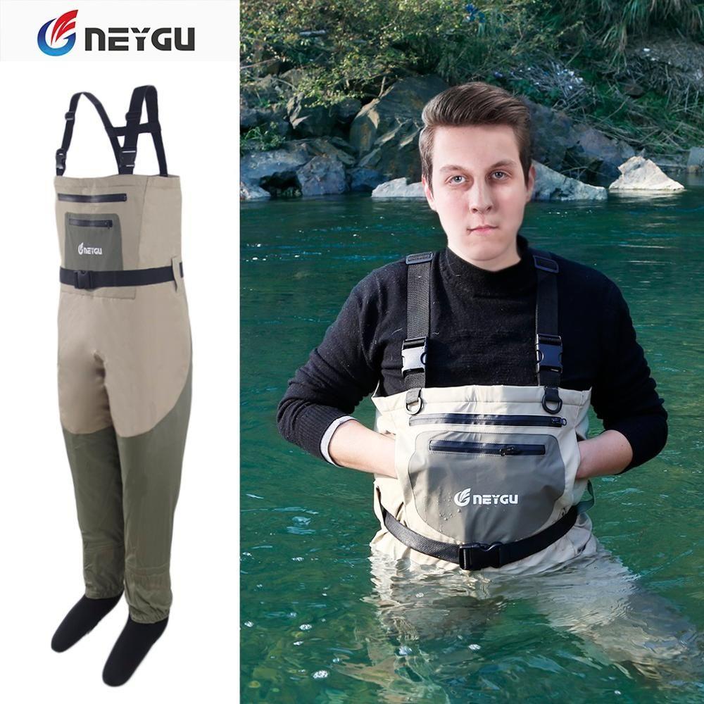 Wader de poitrine de pied de bas de néoprène de NeyGu pour le Rafting et la chasse et le camp boueux de marais, Wader de pêche imperméable et respirable