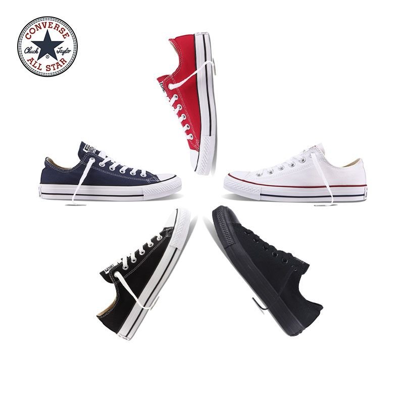 Original Authentic Converse ALL STAR Classic Low-Top Unisex Skateboarding Shoes Good Quality Lace-up Durable Canvas Footwear