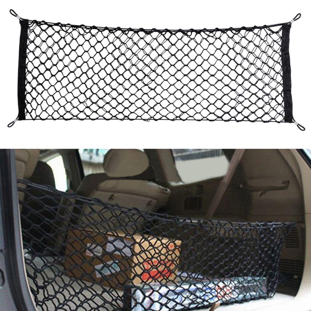 Voiture Auto coffre arrière Cargo organisateur stockage maille Net titulaire avec 4 crochets Durable voiture style accessoires élastique hamac