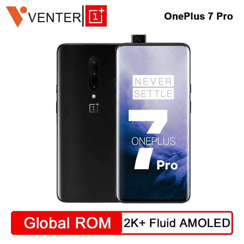 Original Globale Rom OnePlus 7 Pro 8GB 256GB Snapdragon 855 Smartphone 48MP Triple Hinten Cams 6,67 ''Zoll 2K + Flüssigkeit AMOLED Bildschirm