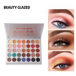 Kecantikan Mengkilap Glitter Eyeshadow Pallet Matte Shimmer Make Up Palet Bercahaya Beberapa Gaya Palet Eye Shadow