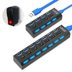USB Hub 3.0 Multi USB 3.0 Hub USB Splitter 2.0 Hab Multiple 4/7 Port Expander With Power Adapter computer accessories for pc